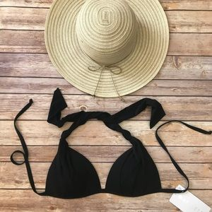 Athleta Aqualuxe Halter Swimsuit Bikini Top Size S
